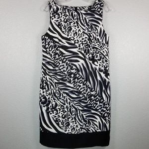 AB Studio animal print sleeveless dress